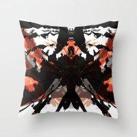 Rorschach Samurai Throw Pillow