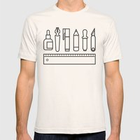 CREATIVE TOOLS / Geometr… Mens Fitted Tee Natural SMALL