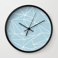Ab Lines Sky Blue Wall Clock