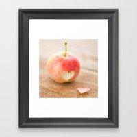 Apple love Framed Art Print