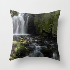 Waterfall at Lumsdale II Throw Pillow