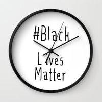 #Black Lives Matter Wall Clock