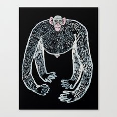 ape and his little friend Canvas Print