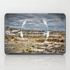 Oh darling, I wish you were here iPad Case