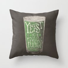 St. Patricks Variation - Yeast is a Fungi Throw Pillow