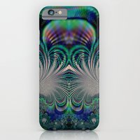 iPhone Cases featuring Fractal Abstract 7 by Harvey Warwick