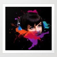 sexy stereo::famke Art Print