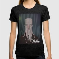 Cthulhu Womens Fitted Tee Tri-Black SMALL
