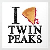 I Love Twin Peaks (Cherry Pie) Art Print