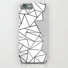 Abstraction Outline Grid on Side White Slim Case iPhone 6s