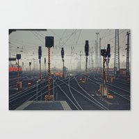 Trainyard Canvas Print