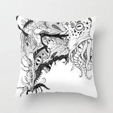 Mr Lovercraft's monsters Throw Pillow