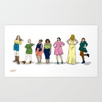 Fashion Line Up Art Print