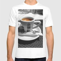 Coffee - Espresso Mens Fitted Tee White SMALL