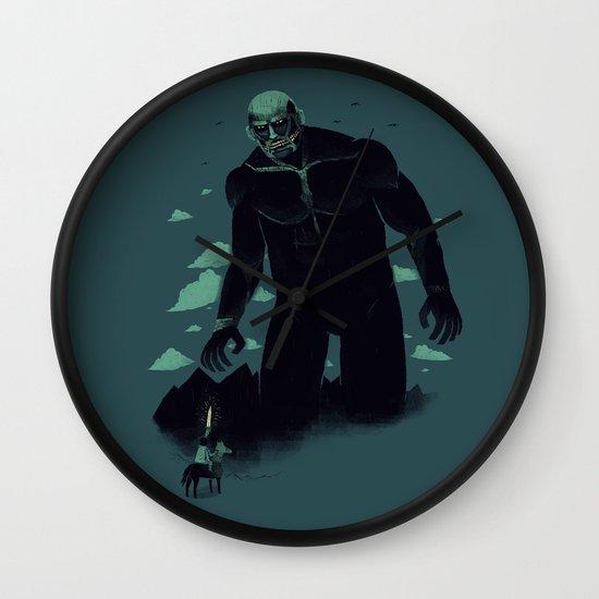 shadow of the titan Wall Clock