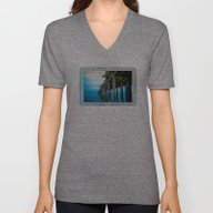 Unisex V-Neck featuring Capitola Pier by Heidi Fairwood