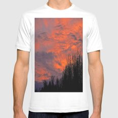 August Sunset Mens Fitted Tee White SMALL