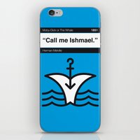 No001 MY MOBY DICK Book Icon poster iPhone & iPod Skin