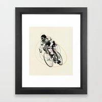 Spiral Cyclist Framed Art Print