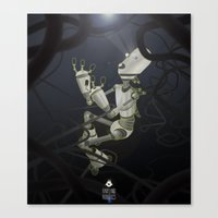 Praying to the Lord of the Universe Canvas Print