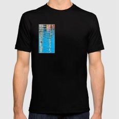 Harbor Watercolors Mens Fitted Tee Black SMALL