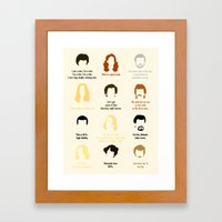 Boogie Quotes Framed Art Print