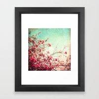 Pink Flowers On A Textur… Framed Art Print