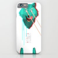 iPhone & iPod Case featuring Wolf With F**king lasers by Devin McGrath