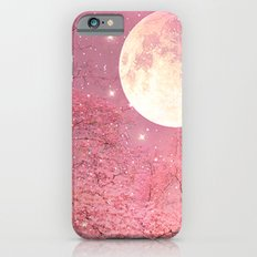 Surreal Fantasy Fairy Tale Pink Nature Trees Stars Full Moon Slim Case iPhone 6s