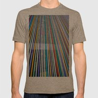 Colored Lines On The Wal… Mens Fitted Tee Tri-Coffee SMALL