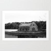 An old Irish Church Art Print