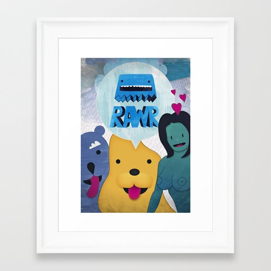 Rawr Returns! Framed Art Print