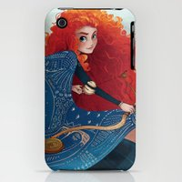 iPhone Cases featuring First-born of Dunbroch by Fez Baker