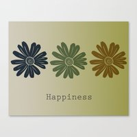 Happiness Daisies Canvas Print