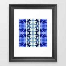 Tie Dye Blues Framed Art Print