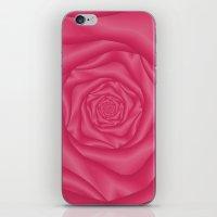 Spiral Rose in Pink iPhone & iPod Skin