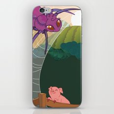 The spider and the pig iPhone & iPod Skin