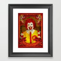 When Ronald Going Wild Framed Art Print