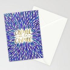 Crème de la Crème – Navy & Gold Stationery Cards