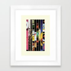 Pearl Jam Stripped Framed Art Print