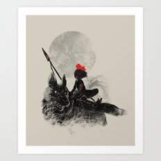 Princess Monokiki Art Print