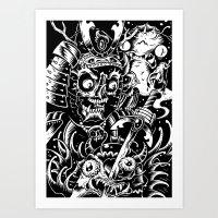 Swamp Samurai Art Print