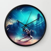Dancing Zodiac Pisces Wall Clock