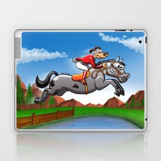 Olympic Equestrian Jumping Dog Laptop & iPad Skin