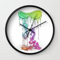 Sloppy Pizza Pie - FREE … Wall Clock