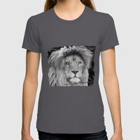 LION BEAUTY Womens Fitted Tee Asphalt SMALL