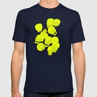Neon Skulls Mens Fitted Tee Navy SMALL