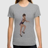 Pin-Up Girl Womens Fitted Tee Athletic Grey SMALL