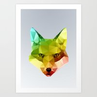 Glass Animal - FOX head Art Print