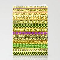 Yzor Pattern 011 Yellow … Stationery Cards